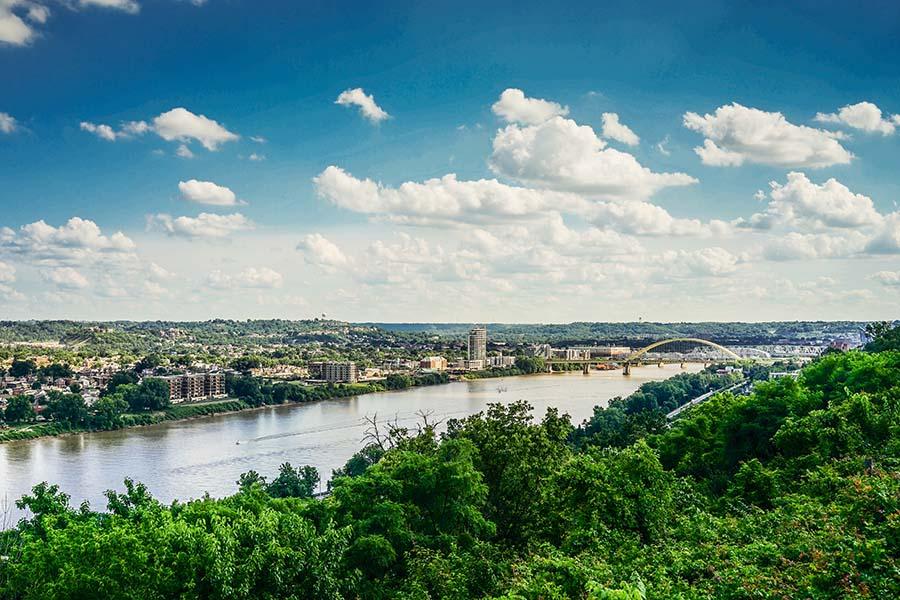 Ohio - Aerial View of Columbus Ohio and Surrounding Suburbs