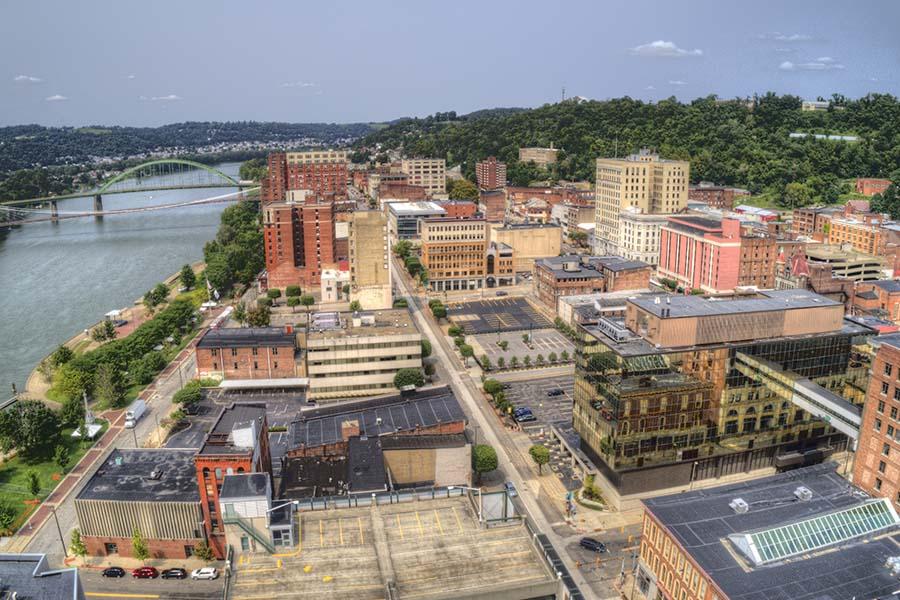 Parkersburg WV - View of Downtown Parkersburg West Virginia